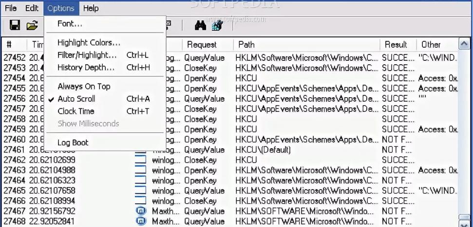 FileMon, RegMon, TCPView скачать бесплатно для Windows
